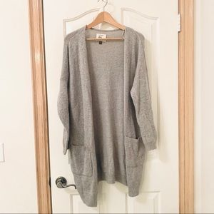 Cotton On long grey cardigan sweater